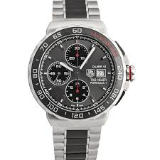 TAG HEUER BLACK/WHITE STRAP